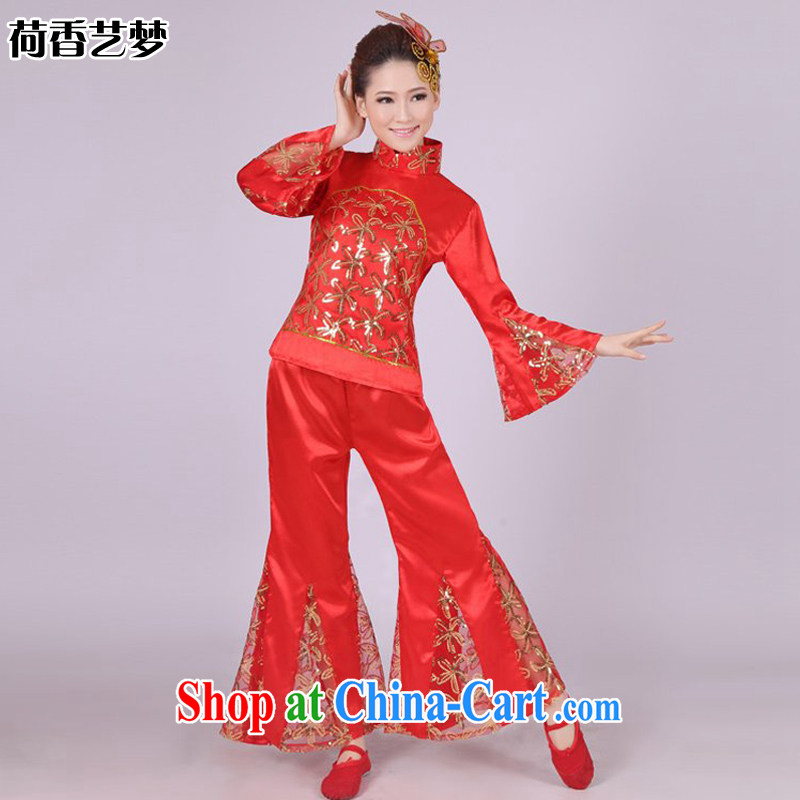 I should be grateful if you would arrange for her dream classical dance costumes dance Yangge costumes theatrical performances drama skit show clothing HXYM 0004 red XXXL
