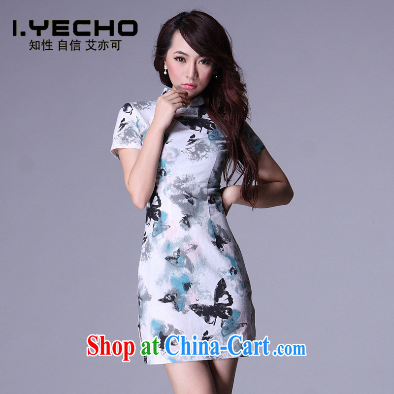 AIDS is also a 2013 spring and summer with new and improved cheongsam summer antique Chinese cotton the linen dresses QP 009 - 4 picture color XXXL