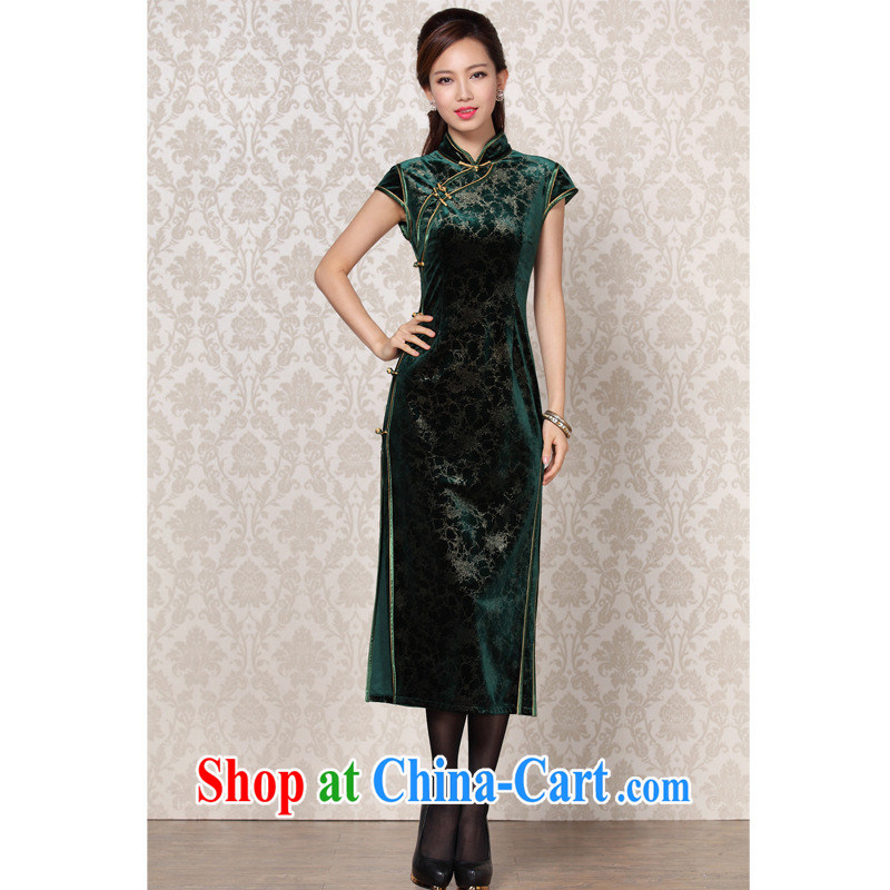 2013 fall/winter new improved Stylish retro banquet dresses in Shenzhen factory Wholesale/mixed batch dark XXXL