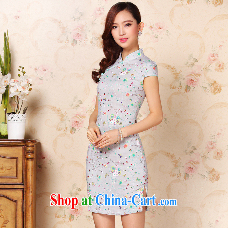 The 2014 can also be spring new counters are Stylish retro early blooming, qipao picture color XXL