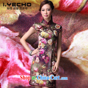 AIDS is also a 2013 spring and summer with new, heavy Silk Cheongsam daily outfit skirt high-end women's clothing improved stylish summer figure XL
