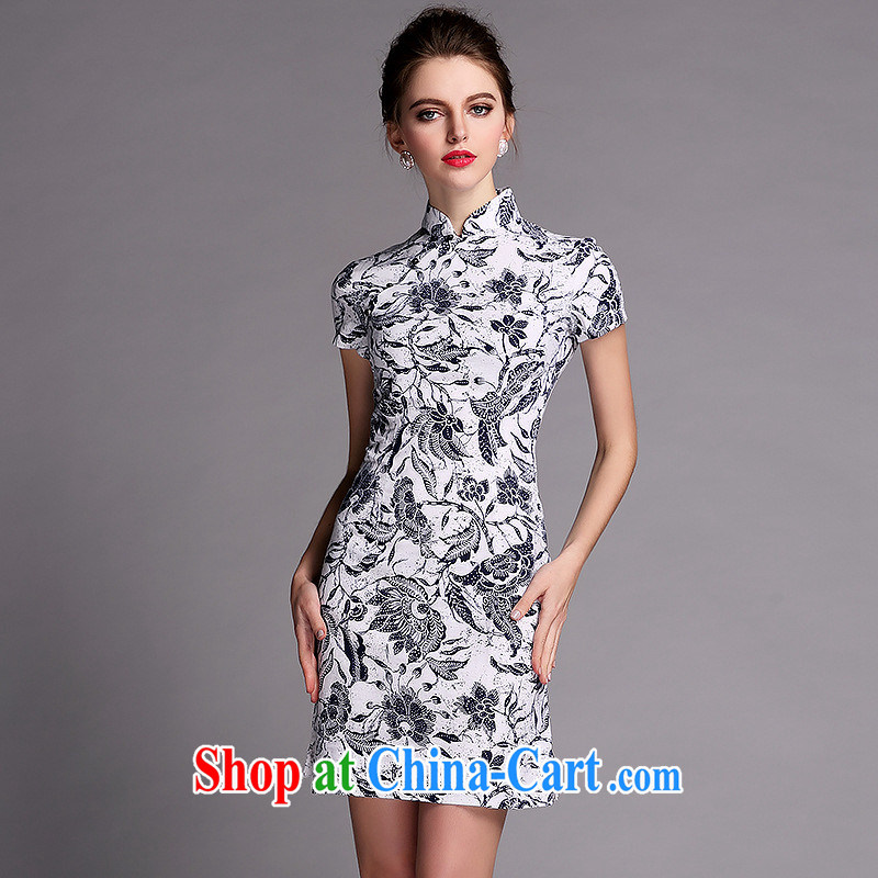 Summer 2014 new girls improved Stylish retro linen dresses ShenZhen Factory wholesale QF 140,512 picture color XXL