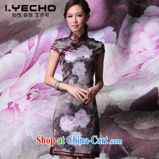 AIDS is also a 2013 spring and summer new heavy silk Chinese Peony cheongsam the code improved retro daily figure XXXL
