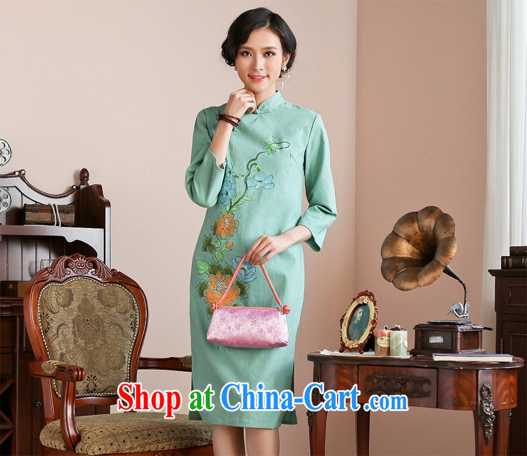 Ask a vegetarian autumn new dresses, for hand-painted, long dresses fall and winter dress winter dress WXZ 1198 green XL code pictures, price, brand platters! Elections are good character, the national distribution, so why buy now enjoy more preferential! Health