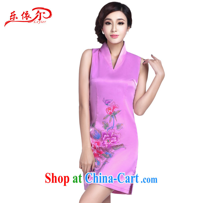 And, according to summer dress cheongsam stylish improved sexy outfit retro short V collar cheongsam dress dress LYE 1705 pink L