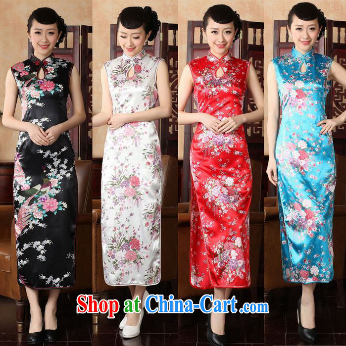 Long cheongsam high on the truck retro beauty sexy sleeveless large, ceremonial welcome photography stage 2 service L