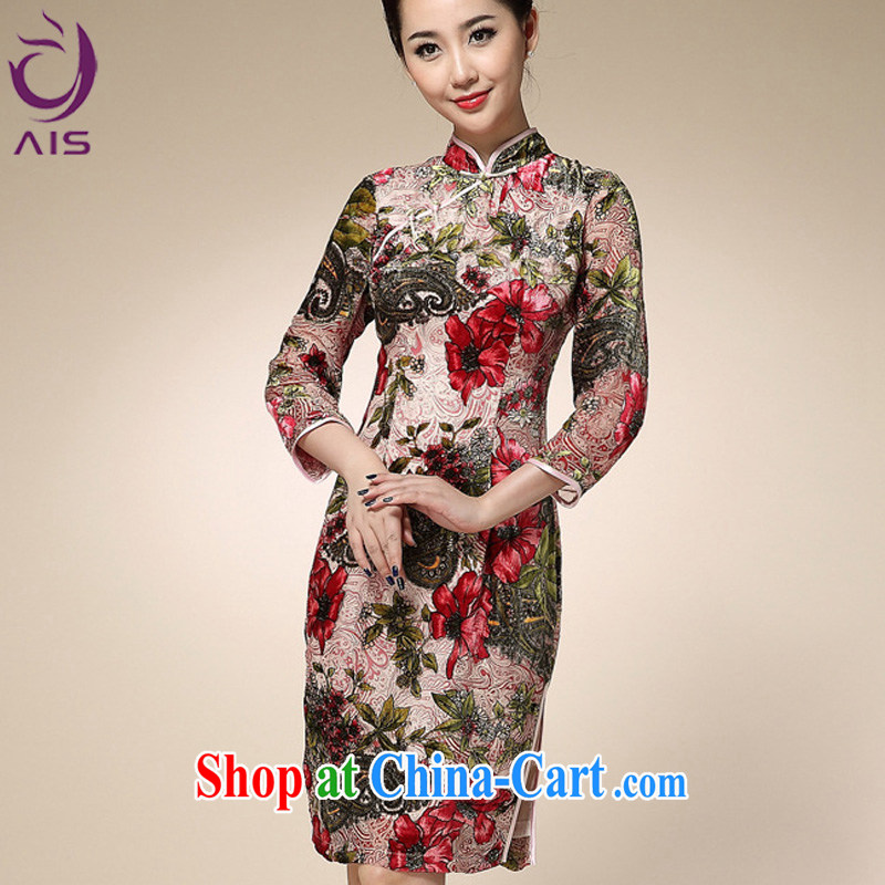 Still, the 2014 autumn and winter, new Chinese qipao stylish improved antique palace female Chinese qipao red XXL