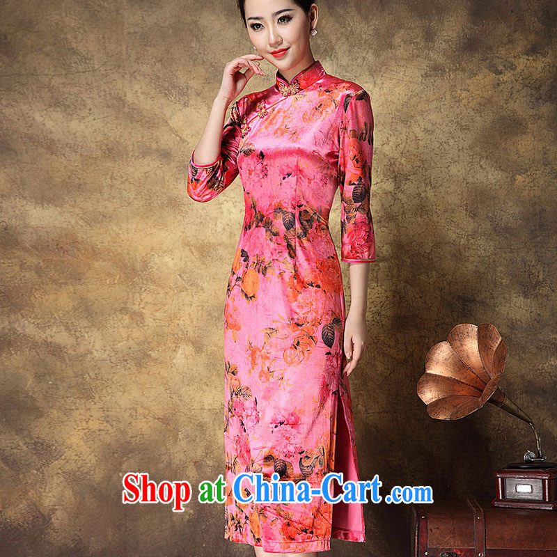 She made the 2014 European site new autumn and winter clothes long wool stamp antique palace beauty mom with red outfit XXL
