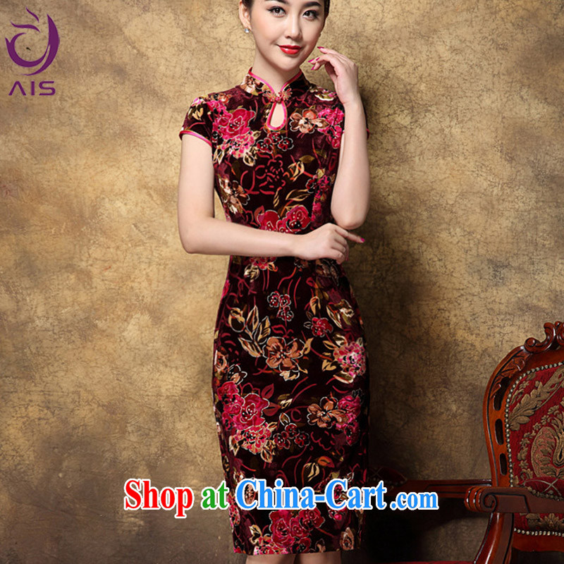 She made the 2014 autumn and winter new female Chinese Chinese Antique royal elegance feminine long, mom with red outfit XXL