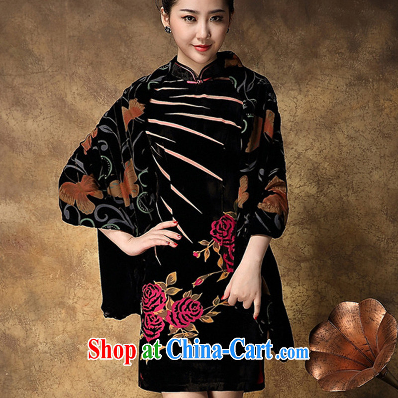 Still, the cheongsam shoulder Grand Prix red are code