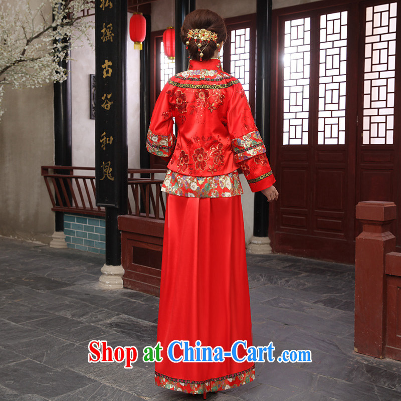 2015 Tslyzm New Sau Wo service use phoenix marriages ancient Chinese wedding married Yi Classic red XS, Tslyzm, shopping on the Internet