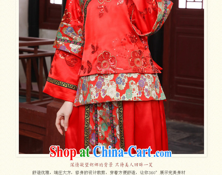 2015 Tslyzm New Sau Wo service use phoenix marriages ancient Chinese wedding married Yi Classic red XS pictures, price, brand platters! Elections are good character, the national distribution, so why buy now enjoy more preferential! Health