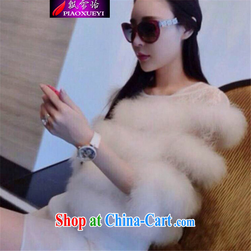 Snow Yee 2015 season new stylish big aura of Yuan plush T-shirt picture color M