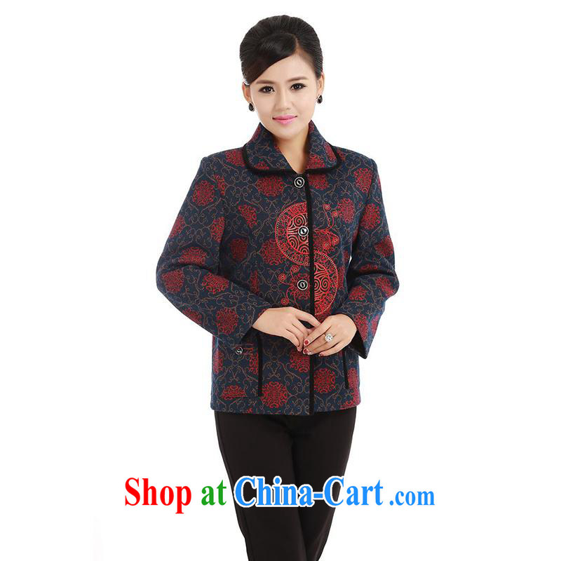 meropia new Autumn with stylish stamp beauty and comfortable style with short T-shirt AAMP - AE lapel Tang 5 color dark red XL