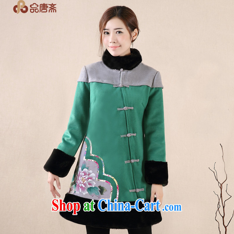 Mr Henry Tang, Id al-Fitr 2014 winter clothing new Ethnic Wind hand-painted improved retro Tang jackets female Green XL