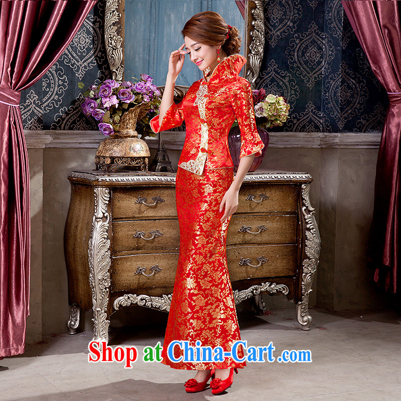 2015 new wedding dresses antique China wind bridal long paragraph in his toast spring and summer thin dresses tailored