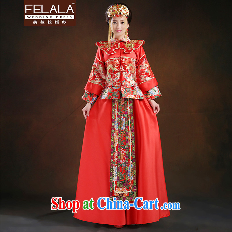 Ferrara 2015 bride Chinese antique dresses elegant damask-su Wo service serving toast M Suzhou shipping