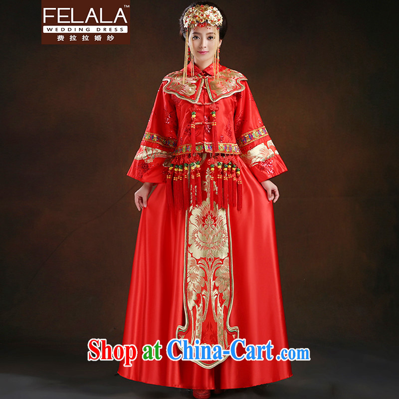 Ferrara 2015 bride Chinese antique dresses, long-serving reel toast serving pregnant women serving XL Suzhou shipping