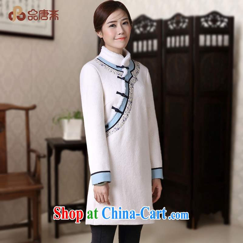 Mr Henry Tang, Ramadan 2014 winter clothes new Ethnic Wind long-sleeved retro fashion cheongsam shirt jacket white XL