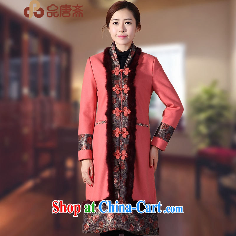 Mr Henry Tang, Ramadan 2014 winter clothes new Ethnic Wind long-sleeved retro improved cheongsam shirt red XL