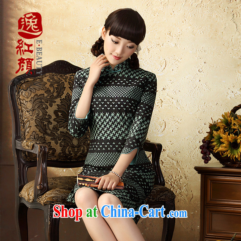 once and for all and fatally jealous dream weaving linen dresses skirt fall 2015 with improved stylish cotton cultivation the cheongsam dress cuff in Diane green 2 XL