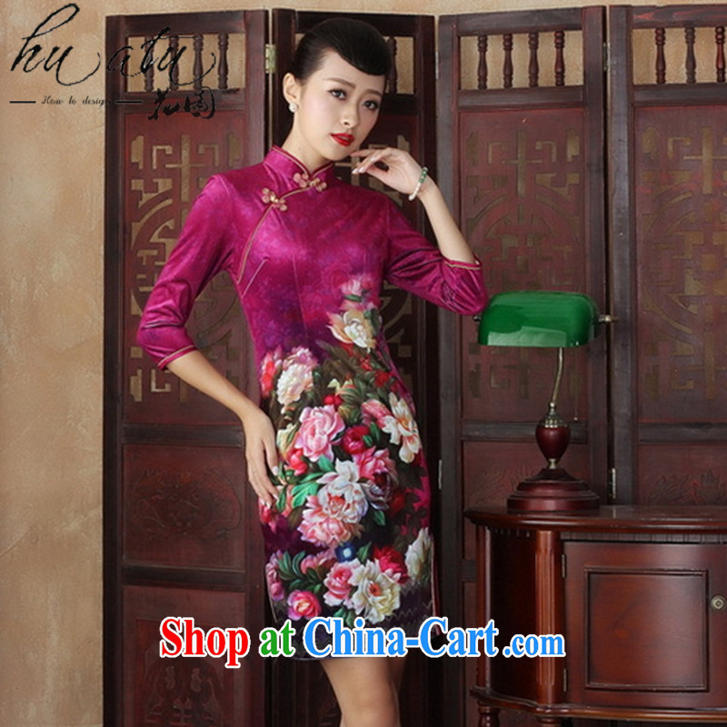Take the Chinese Dress improved retro dresses, scouring pads in the cuff long fall dresses, Beauty Fashion dresses such as figure 2 XL