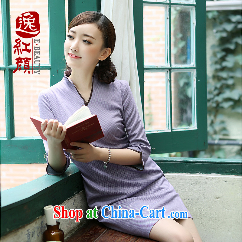 once and for all and fatally jealous Zi Yu new cheongsam dress retro elegant 2015 spring and summer cheongsam dress improved stylish beauty in color 2 XL