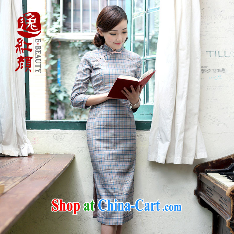 once and for all and fatally jealous love high-end improved cheongsam dress 2015 spring and summer New Republic retro long cheongsam dress suit 2 XL