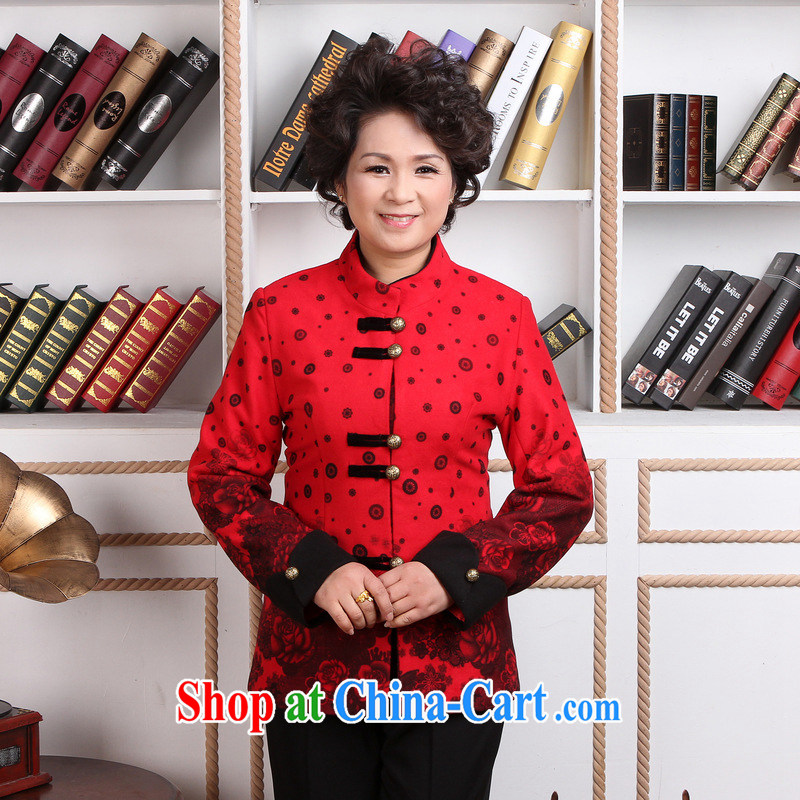 Jing An elderly female Chinese autumn and winter Load T-shirt jacket, for Chinese female parka brigades