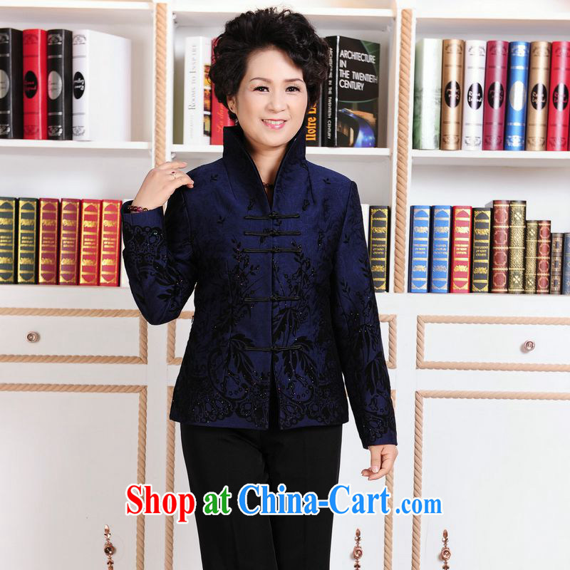 Jing An elderly female Chinese autumn winter clothing T-shirt jacket, for Chinese female parka brigades