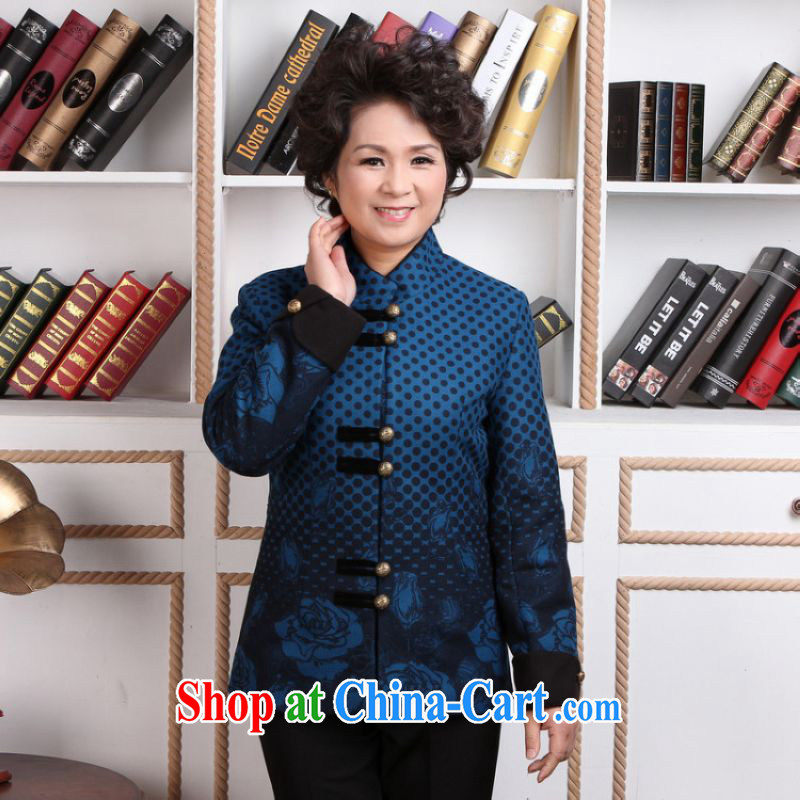 He Jing Ge older female Tang with autumn and winter Load T-shirt jacket, for Chinese female parka brigades