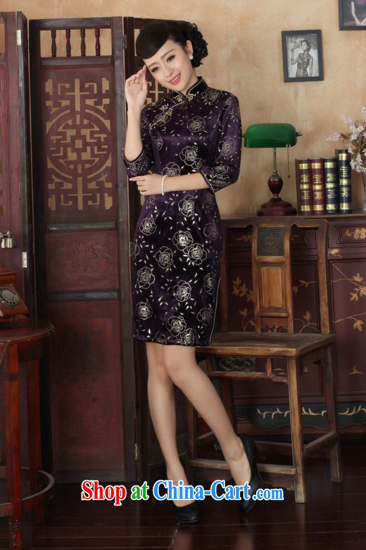 Shanghai, optimize purchase Chinese improved cheongsam dress long skirt-stretch the wool beauty dresses skirts 7 cuff picture color 2 XL pictures, price, brand platters! Elections are good character, the national distribution, so why buy now enjoy more preferential! Health