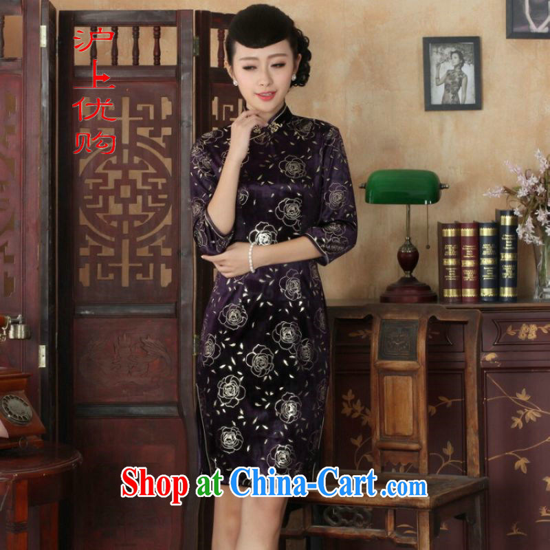 Shanghai, optimize purchase Chinese improved cheongsam dress long skirt-stretch the wool beauty dresses skirts 7 cuff picture color 2 XL, Shanghai, optimization, and, online shopping