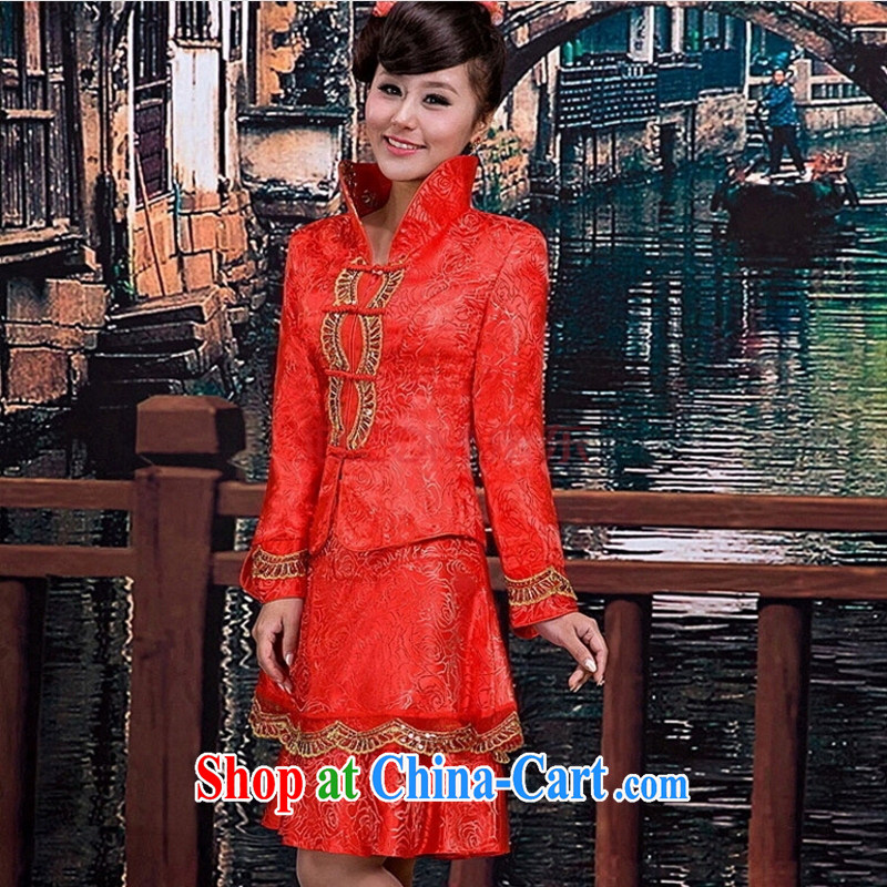 Lisa Donald Rumsfeld's new stylish dresses wedding photography dresses bridal toast clothing cheongsam dress fall and winter hot, TU 9 red customer service to size. Does Not Support Replacement