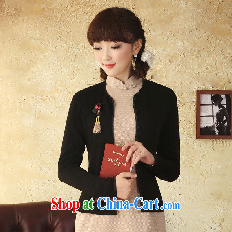once and for all as soon as possible without wind upwind knitted T-shirt 2015 spring and summer New Beauty retro style dresses cardigan pink L, fatally jealous once and for all, and, on-line shopping