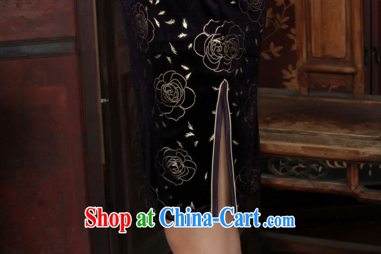 And Jing Ge Chinese improved cheongsam dress long skirt-stretch the wool beauty dresses skirts 7 cuff picture color 2 XL pictures, price, brand platters! Elections are good character, the national distribution, so why buy now enjoy more preferential! Health