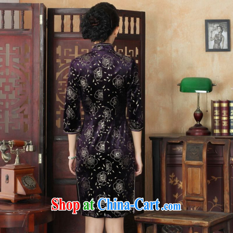 And Jing Ge Chinese improved cheongsam dress long skirt-stretch the wool beauty dresses skirts 7 sub-cuff picture color 2 XL, Miss Au King pavilion, shopping on the Internet