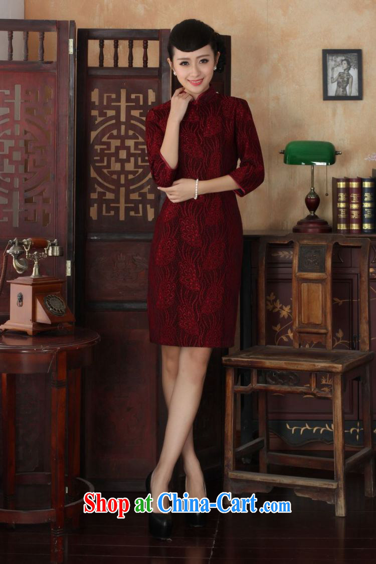 The frequency Chinese improved cheongsam dress long skirt-stretch lace gold velour cheongsam beauty skirt 7 cuff TD 0022 Map Color 2 XL pictures, price, brand platters! Elections are good character, the national distribution, so why buy now enjoy more preferential! Health