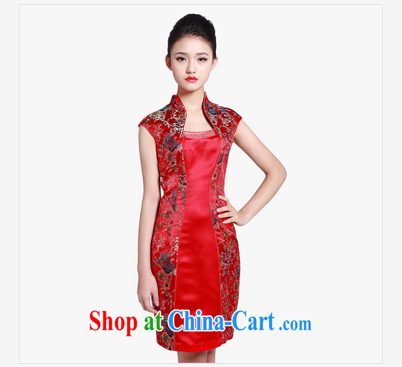 Wood is really the 2015 spring and summer new Chinese floral elegant short sleeve cheongsam dress 80,608 04 deep red XXL pictures, price, brand platters! Elections are good character, the national distribution, so why buy now enjoy more preferential! Health