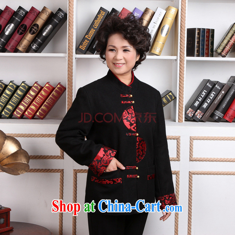 The frequency, older women Tang with winter clothes T-shirt jacket, for Chinese female wool jacket? Tang - 2 black M
