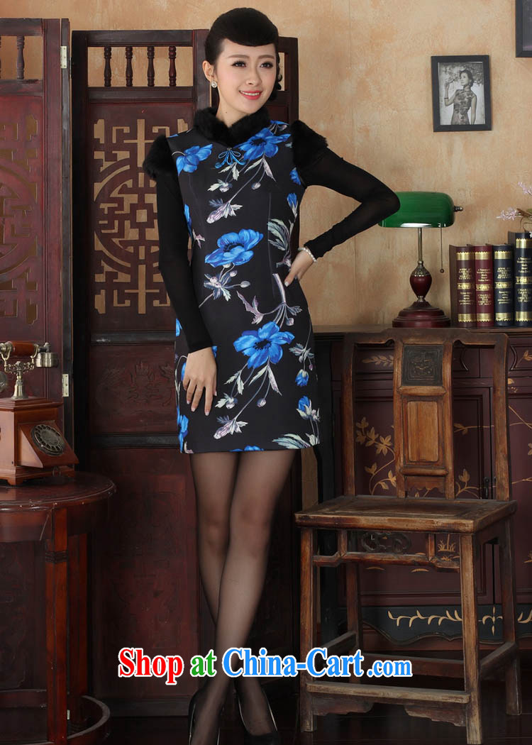 Ko Yo vines into colorful fall/winter NEW classic Chinese fashion short-sleeved Ethnic Wind the temperament lace velvet cheongsam Y Y 0026 0029 175/2 XL pictures, price, brand platters! Elections are good character, the national distribution, so why buy now enjoy more preferential! Health