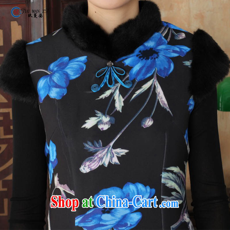 Ko Yo vines into colorful fall/winter NEW classic Chinese fashion collar short-sleeve Ethnic Wind the temperament lace velvet cheongsam Y Y 0026 0029 175/2 XL, capital city sprawl, shopping on the Internet