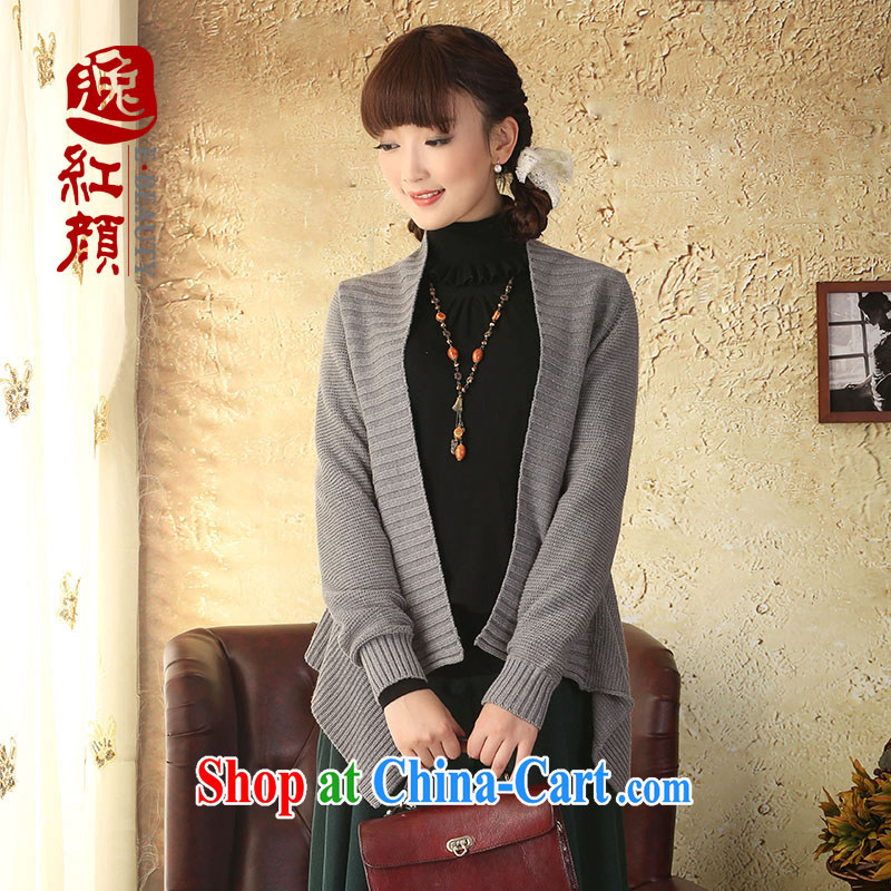 once and for all the proverbial hero autumn wind load new knitting cardigan jacket Ethnic Wind long-sleeved cotton Sweater Knit sweater girls cardigan gray are code