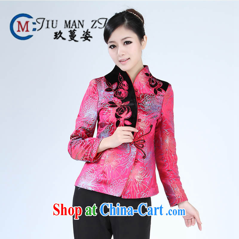 Ko Yo vines into colorful spring and new high-end damask personalized V brought a tight style manual tray snaps waterlily Tang jackets large number 2321 2321 - 1 180/ 3XL