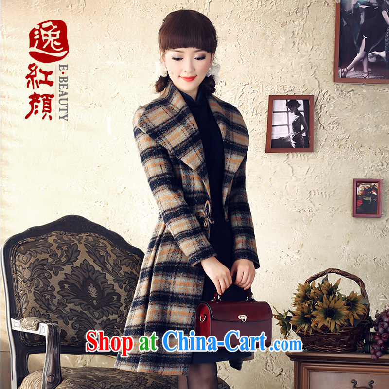 once and for all and fatally jealous Angel The wool retro lapel waist coat winter sweater jacket that girls in long, Retro clothing and brown XL