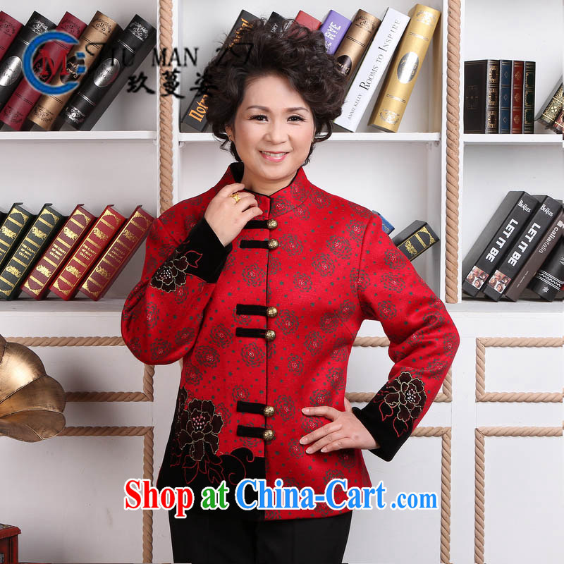 Ko Yo vines into colorful spring new stylish Ethnic Wind beautiful embroidered Long-Sleeve style larger Tang with quilted coat 2359 2359 - 2 180 _3 XL