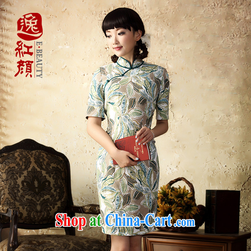 once and for all and that proverbial hero autumn linen dresses skirt fall 2015 with improved stylish beauty stamp duty cotton the cheongsam dress even the green XL
