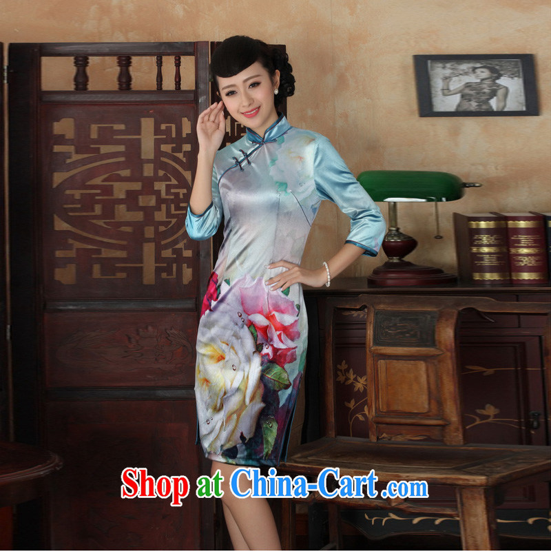 Mrs Ingrid sprawl economy 2014 new female Chinese, Chinese leaders improved wool lace dresses costumes, dresses cuff figure XXL