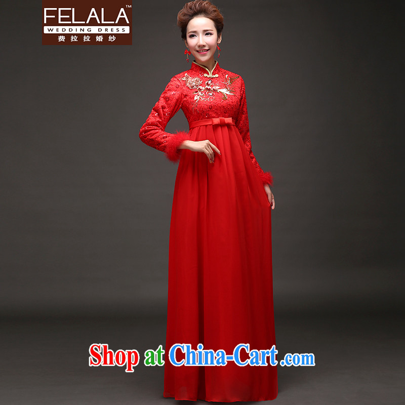 Ferrara 2015 new winter clothes thick antique Chinese, for maternity dress cheongsam dress XL Suzhou shipping