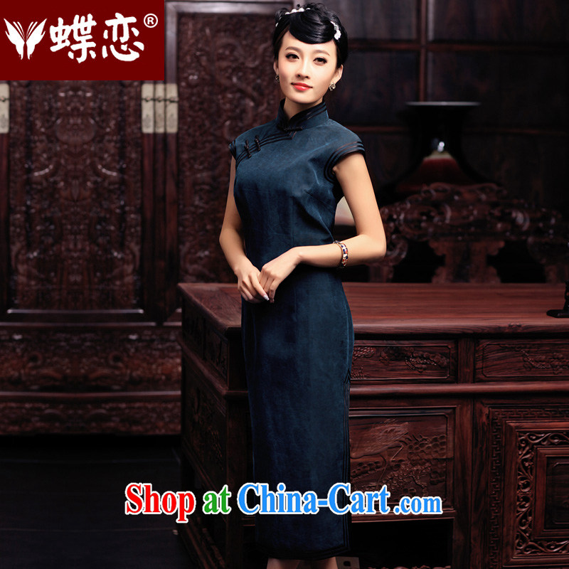 Butterfly Lovers spring 2015 the new full silk incense cloud yarn long cheongsam daily improved retro outfit 49,130 figure 15 days out XL